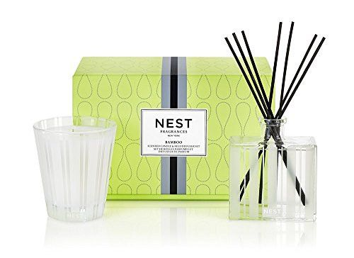 NEST Fragrances Classic Candle & Reed Diffuser Set- Bamboo