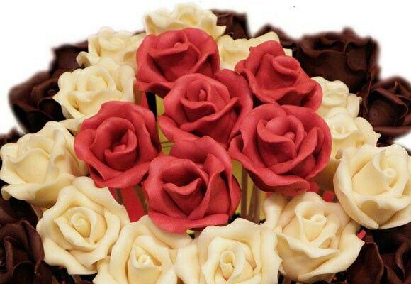 Chocolate rosas