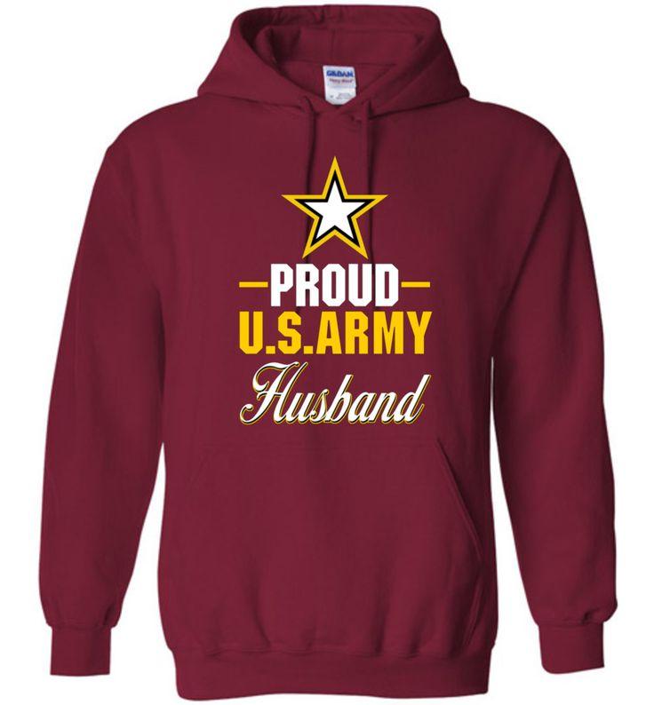Proud U.S. Army Husband Gildan Heavy Blend Hoodie
