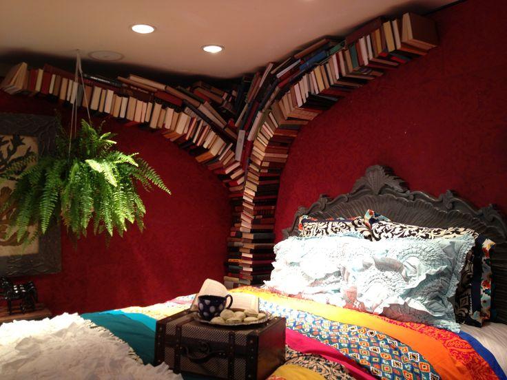 anthropologie bedroom display love the book tree
