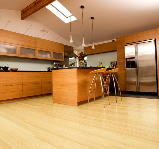 bamboo loft line of bamboo flooring in blonde - Bamboo Hardwood Flooring
