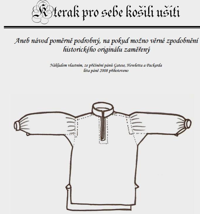 Pánská historická košile