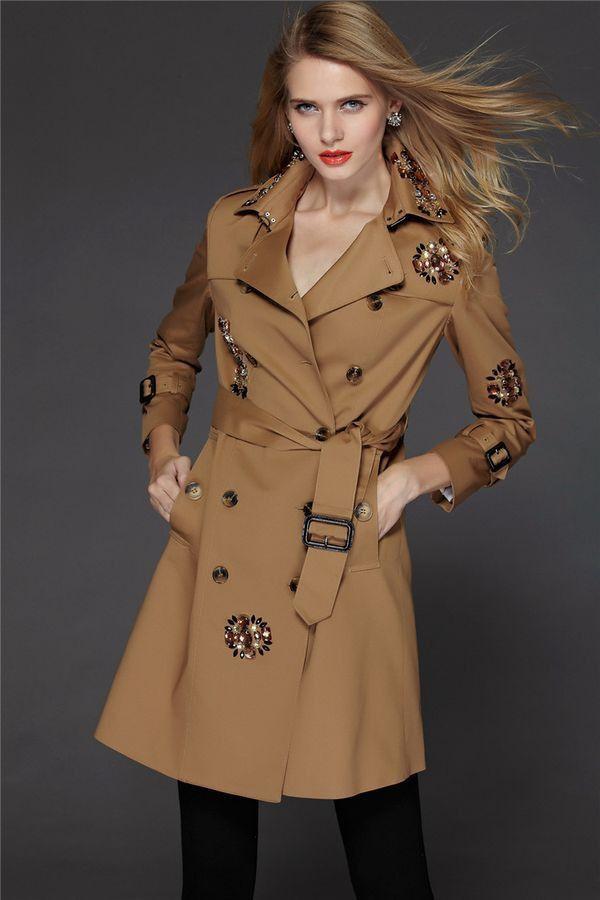 2014 Design New Arrival Autumn Winter Trench Coat Women Long Oversize Warm Wool Jacket European Fashion Overcoat Free Shipping