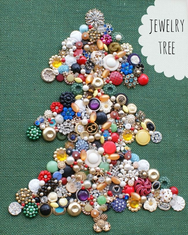 How To Make A Costume Jewelry Christmas Tree Part - 34: This Fun Bejeweled Christmas Tree Is Simple To Make - And A Great Way To Use