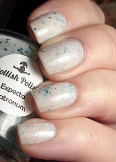 Dollish Polish Expecto Patronum - AWESOME. need this.: Indie Nails, Hp Nails, Indie Polish, Polish Expecto, Dollish Polish, Dollish Pollish, Expecto Patronum, Nails Mad, Harry Potter Nails Polish