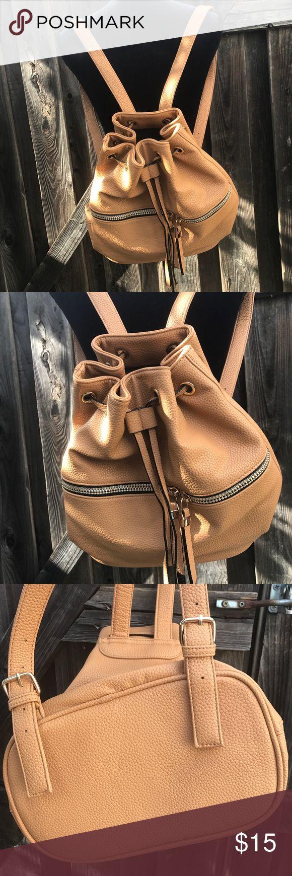Forever21 women's beige backpack Forever21 women's backpack  Beige Never worn  Length 12.5 Width 15 Forever 21 Bags Backpacks