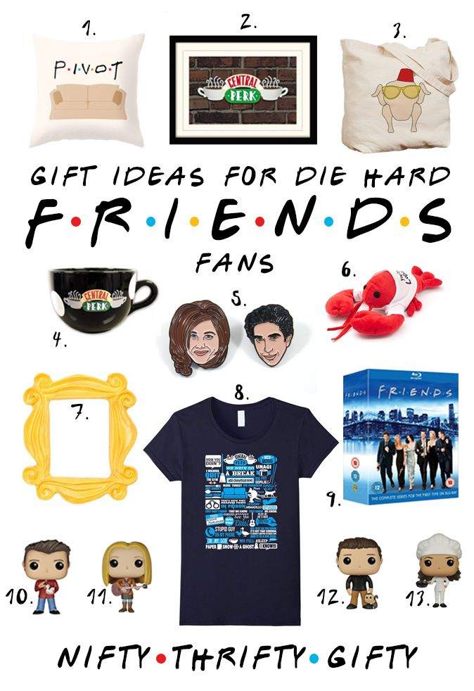 Friends tv show gifts, fandom gifts, fandom gift ideas, friends tv gift ideas