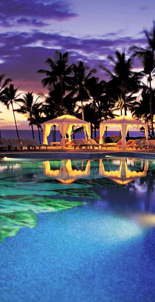 One of Maui's prestigious hotels on the island. Can you imagine yourself sitting poolside here drinking a cool refreshing tropical drink?