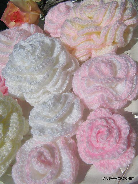 Ravelry: Gorgeous Crochet Rose Flower Tutorial pattern by Lyubava Crochet 4.00