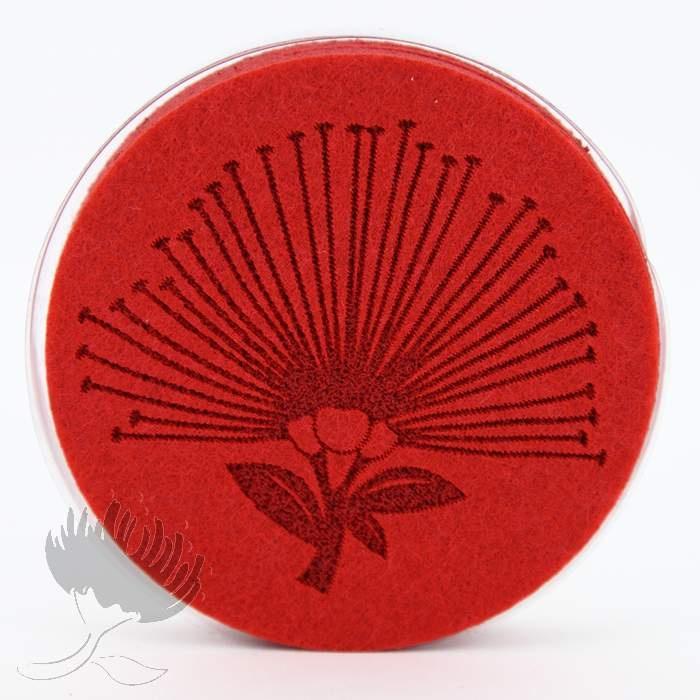 Felt Coasters – Red Pohutukawa