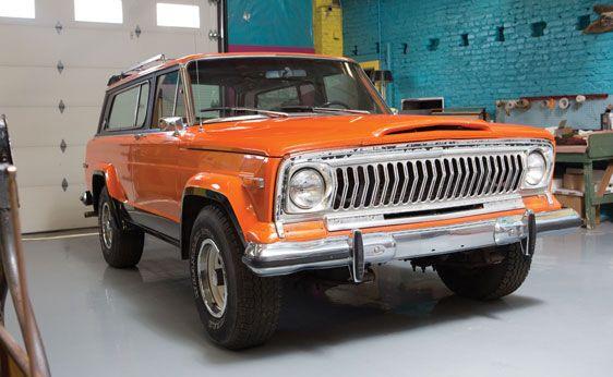 1978 Orange Jeep Cherokee Chief