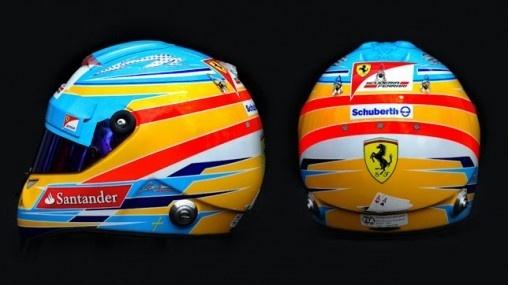 El Casco de Fernando Alonso en 2012.