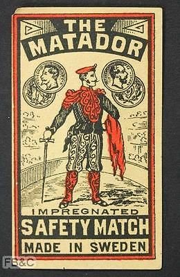 Matchbox-Label-The-Matador-Sweden.