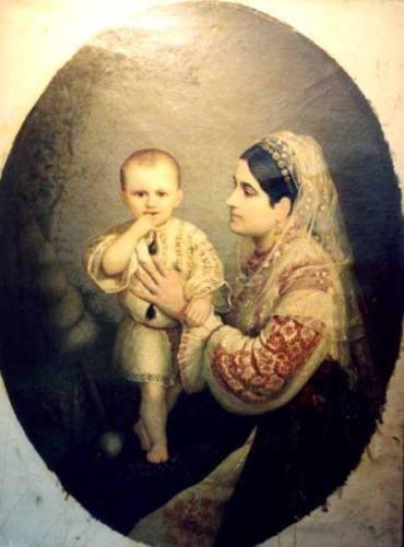 Doamna Davila cu fiul