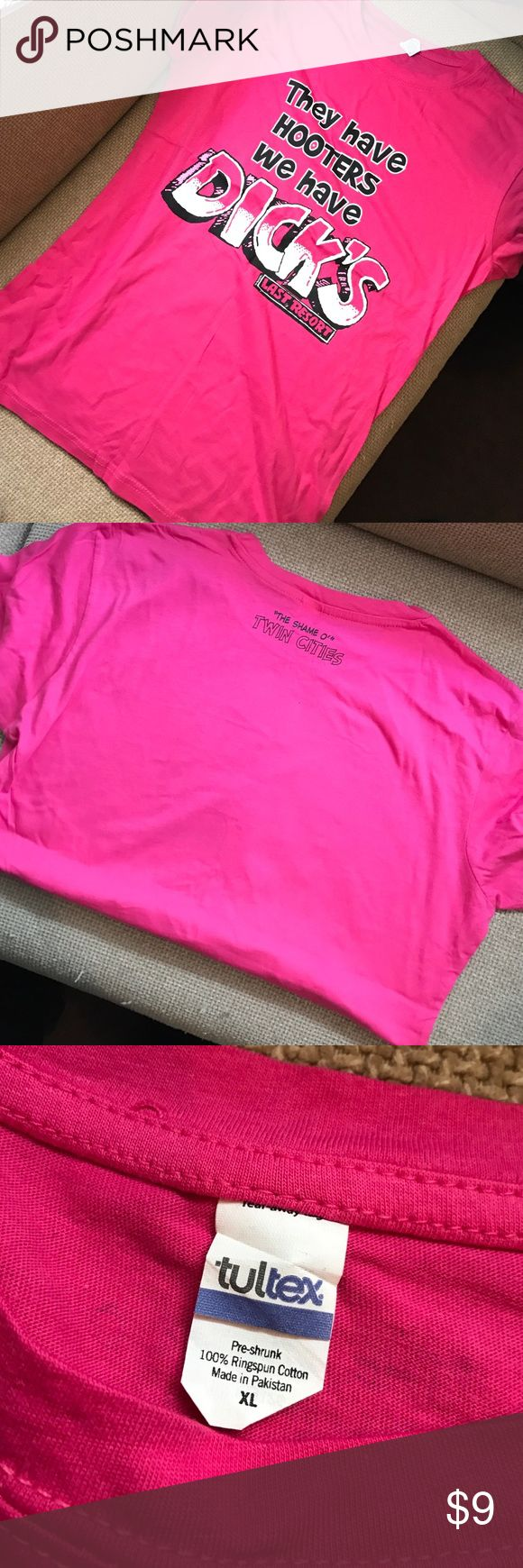 Dicks last resort hot pink XL shirt New without tags Tops Tees - Short Sleeve