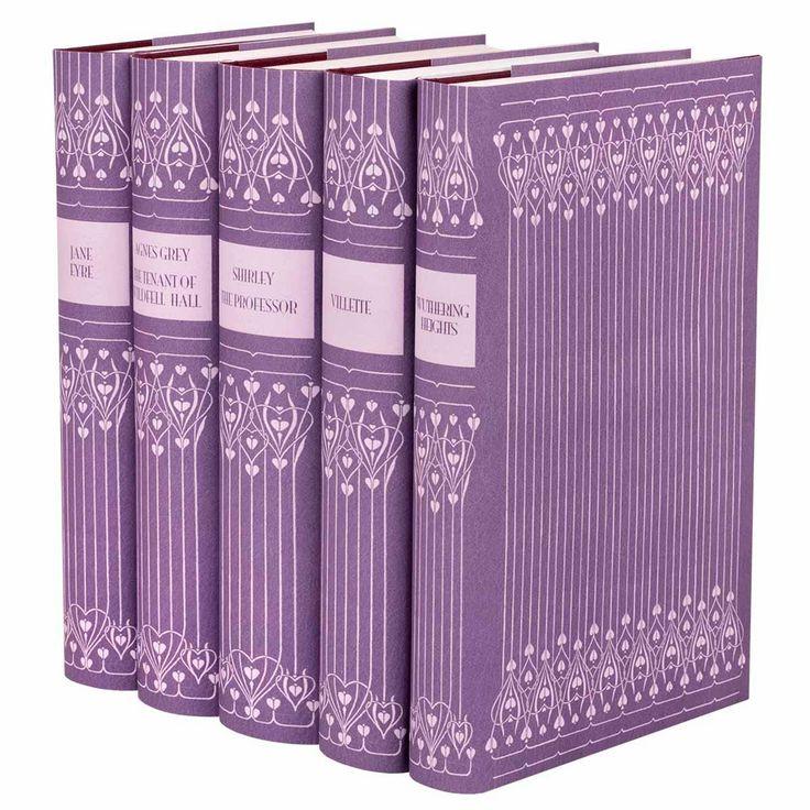 """Purple """"Leather"""" Bronte Sisters Book Set - Juniper Books - $175 - domino.com"""
