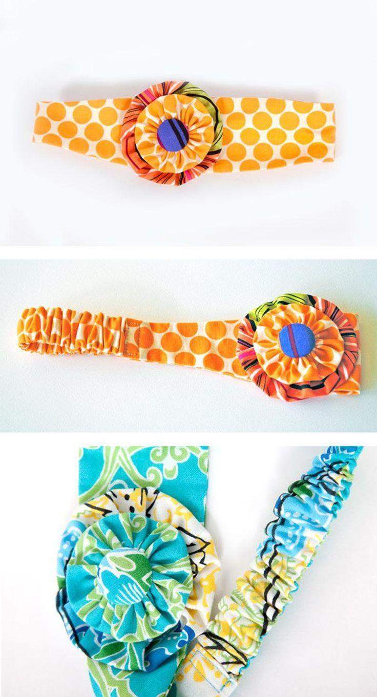 Headband Pattern. PDF Sewing Pattern for Funky Flower Headband, Reversible Cotto…   – Head Band