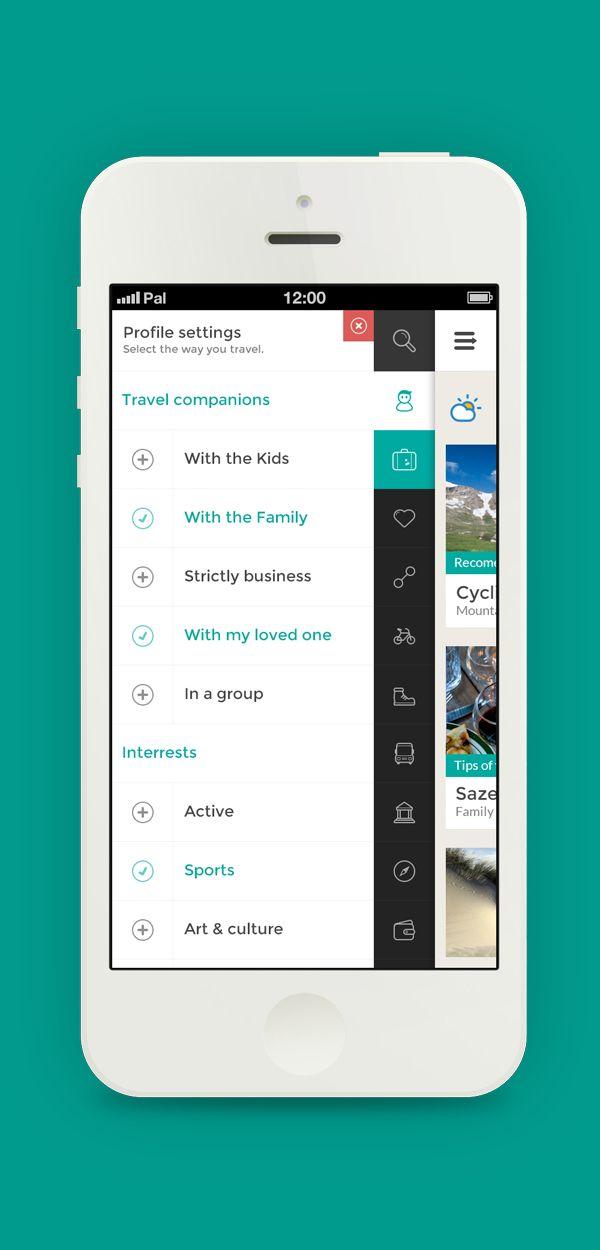 GO TRAVEL — Travel app concept / Pal Blanke