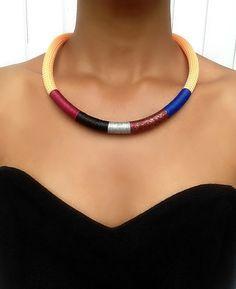 Collier orange clair - collier pour femme - collier ethnique - cadeau pour femme…