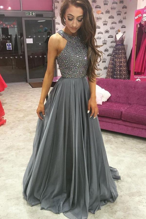 db267f94ca1 Custom Made Fine Grey Prom Dress