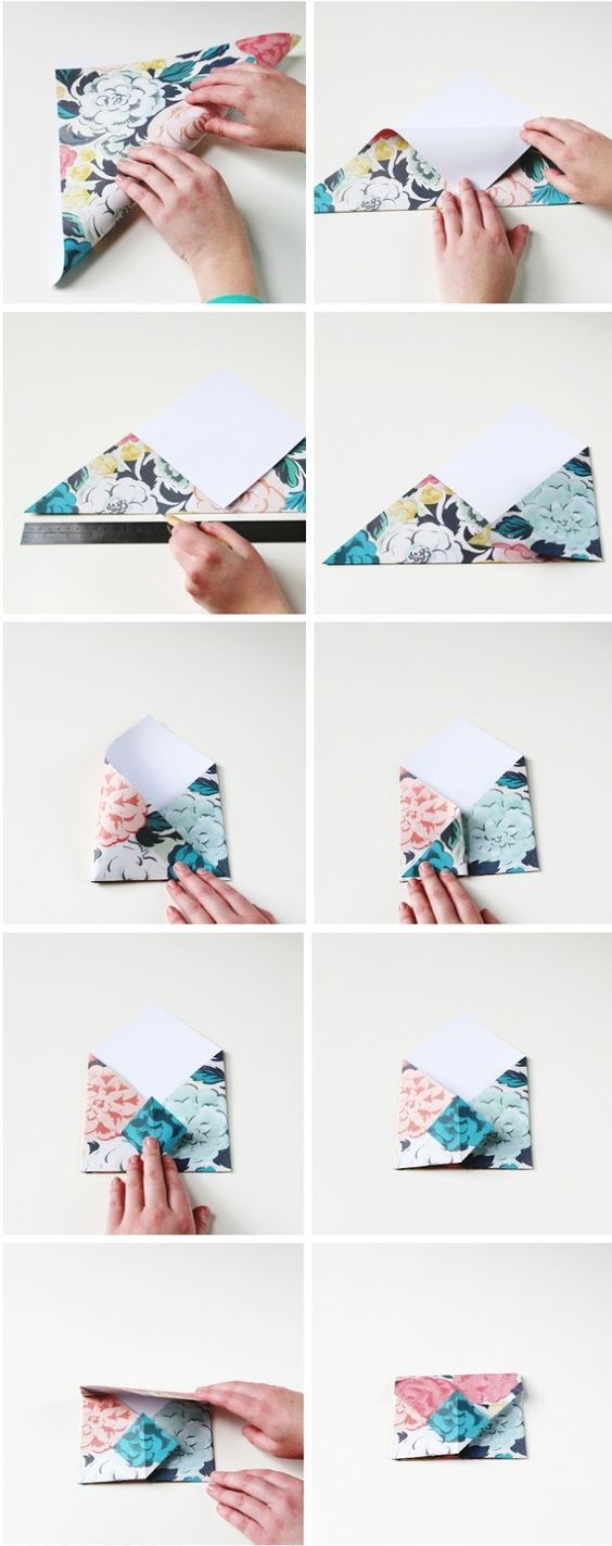 Origami folding flowers stars and animals as nursery room decoration - How To Make Diy Origami Envelopes