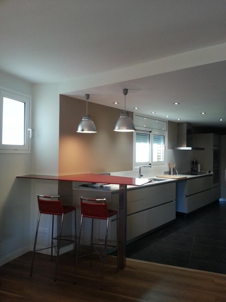 Decoracion moderno cocina encimeras vidrio barras de - Griferias de cocina ...