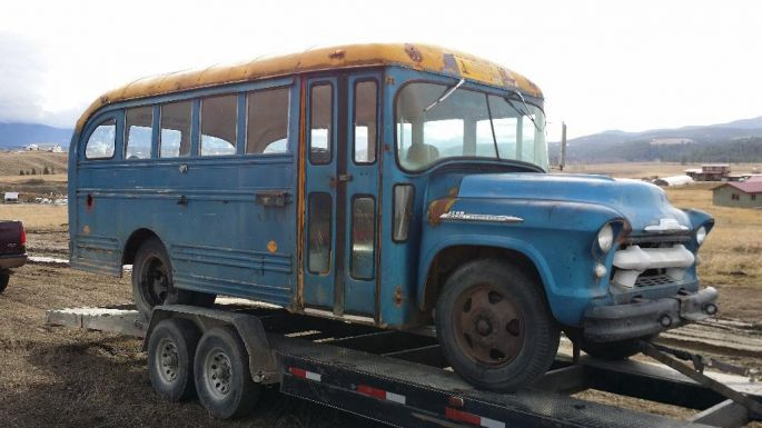 Chevy 4500 1956 For Sale. Must have short bus for converting to a sweet camper/travel bus/spare bedroom.