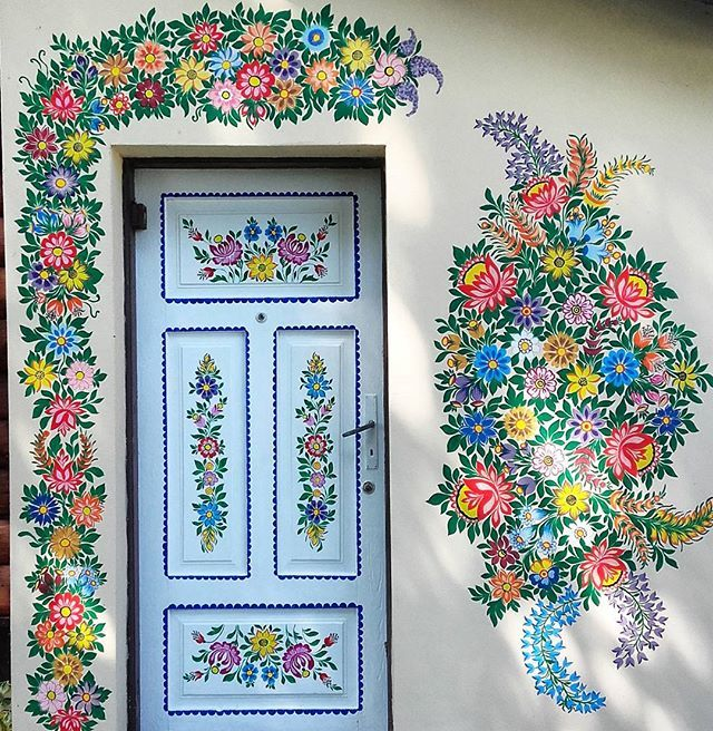 Image result for images  pretty painted houses zalipie poland painted door
