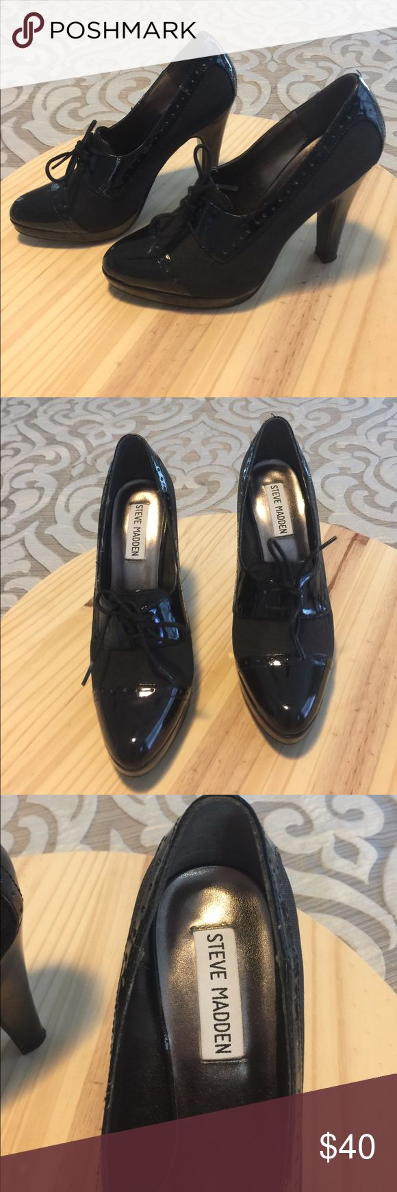 Steve Madden Reilly Black heels Steve Madden size 6M Reilly Black heels. Only worn once. Great used condition. Steve Madden Shoes Heels