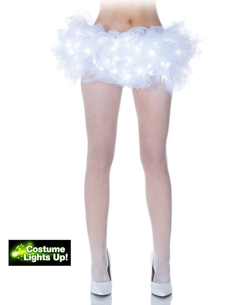 White Light Up Tutu Costume | Cheap Tutus Halloween for Adults
