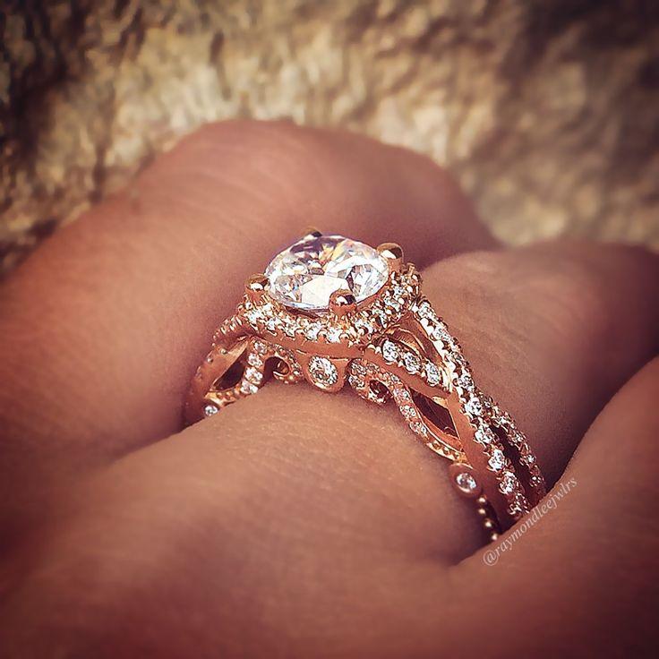Verragio Insignia Rose gold engagement ring