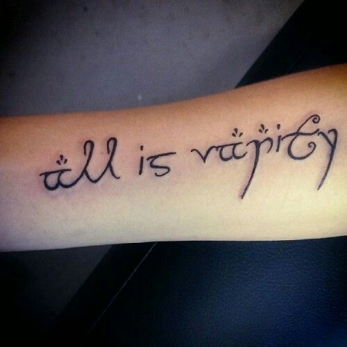Ecclesiastes 12:8 KJV  A tattoo of Christina Grimmie's - want this so bad!