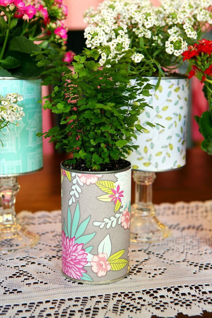 pretty recycled flower pots recycled crafts diy