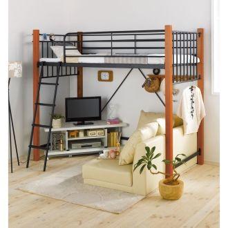 二人用も夢じゃない!狭い部屋でも置けるベッド【おすすめ3選】 | 気に ... ベッドとソファが両方置けちゃう「ロフトベッド」