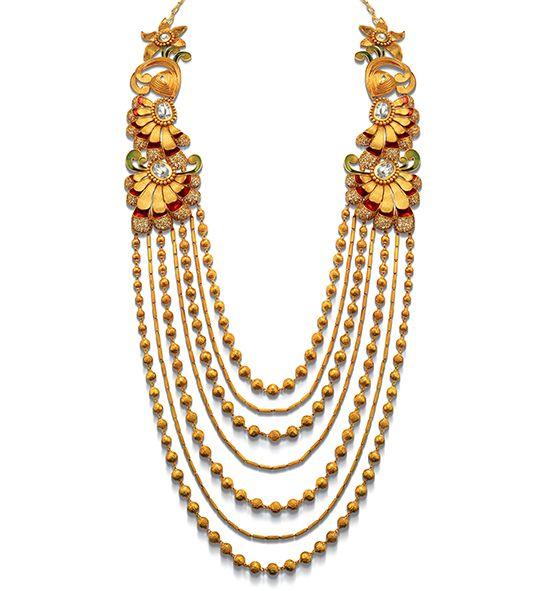 Beautiful gold rani haar designs