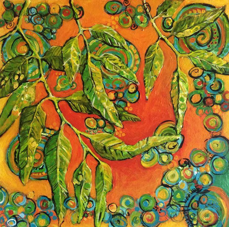 Summer - acrylic on hardboard by Janeen Horne. www.janeenhorneartist.com