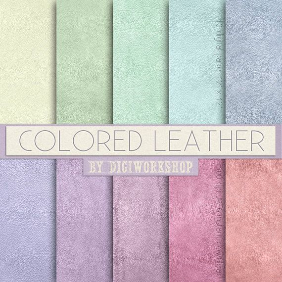"""#Leather Digital Paper: Leather Textures or Leather Digital Backgrounds - """"Colored Leather""""   10 digital paper """"Colored Leather"""" this is digital leather backgrounds with pas... #etsy #digiworkshop #scrapbooking #illustration #creative #clipart #printables #crafting #leather #pastel #color #colour #colored #background #texture"""