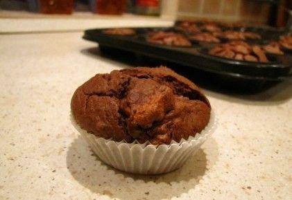 Kakaós muffin zabpehelyliszttel