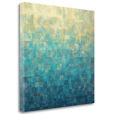 Tangletown Fine Art 'Cascade' by Janelle Kroner Graphic Art on Wrapped Canvas