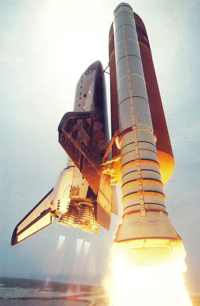 Air Power — space-pics:   Found a postcard of Space Shuttle...