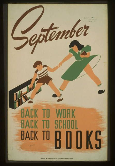 20 AMAZING Vintage Sports and Family Activity Posters from the WPA (Photos) {this looks like Jasper and Roo!}