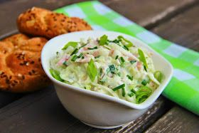 V kuchyni vždy otevřeno ...: Kedlubnový salát se šunkou ( upravený recept podle Jiřinky Kotkové )