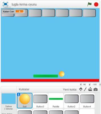 Bt ve Yazilim Dersi: Tuğla Kırma Oyunu-Scratch