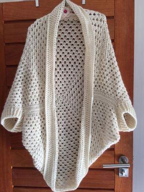"""lo spazio di lilla: """"OneGrannyCardi""""...una mattonella crochet gigante e il cardigan è fatto!!!!"""
