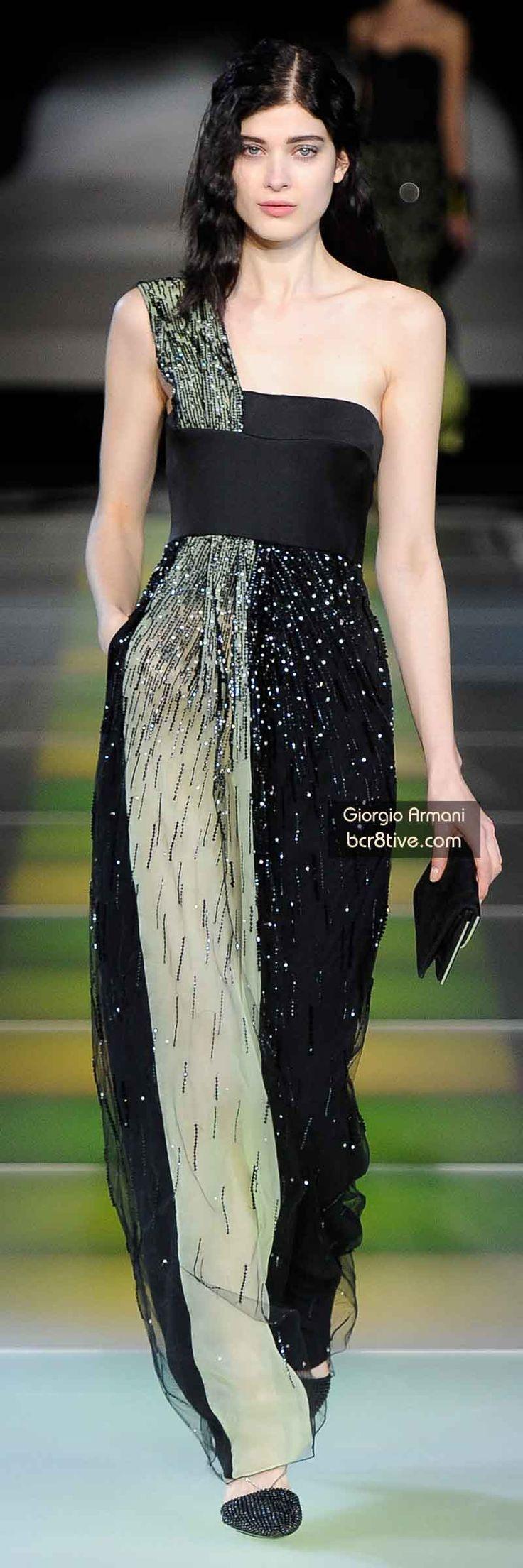 The Best Gowns of Fall 2014 Fashion Week International: Giorgio Armani FW 2014 #MilanFashionWeek