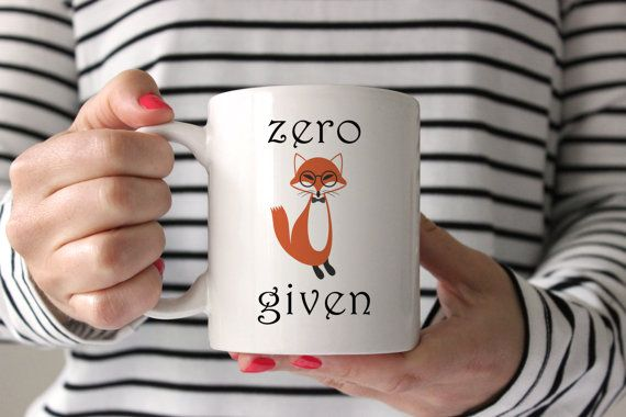 11oz zero fox given Coffee Mug Zero Fox Given Mug | Funny Coffee Mug | Fox Mug | Zero Fox Coffee Mug | Funny Mug | Unique Mug | Birthday | Christmas: