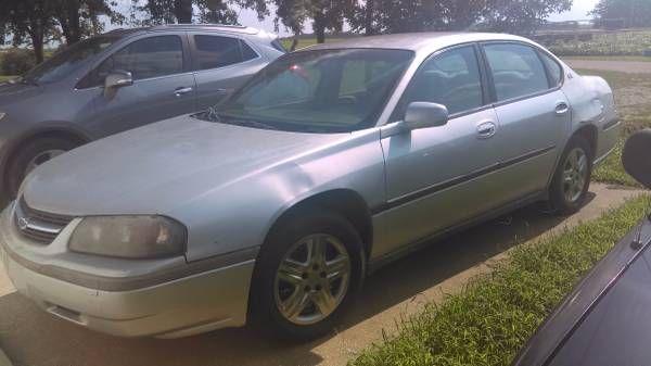 2003 Chevy Impala (Moran) $950: < image 1 of 9 > 2003 chevrolet impala cylinders: 6 cylindersdrive: fwdfuel: gasodometer: 200000paint…