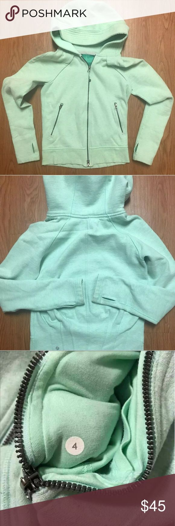 Lululemon Mint Jacket Used & in great condition.  Size 4. Color Mint.   Price is negotiable and bundles are welcome ♡. lululemon athletica Jackets & Coats
