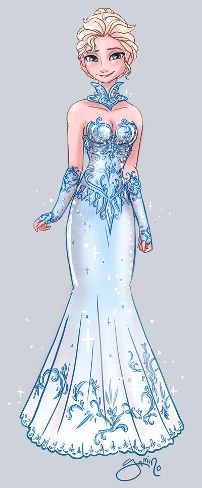 Elsa.  Source: http://yamino.deviantart.com/art/Elsa-s-Fancy-Dress-433111854