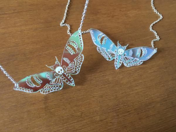 Cute Deaths Head Moth Necklace